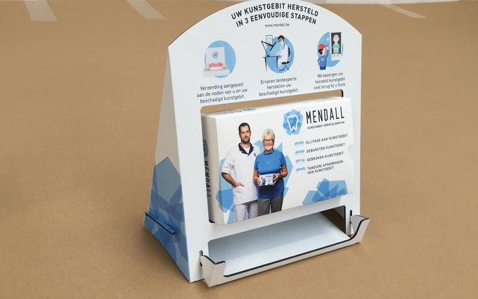 display Mendall bij Deltaprint